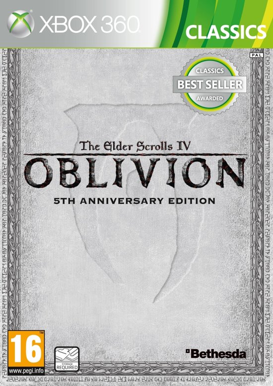 Bethesda The Elder Scrolls IV: Oblivion 5th Anniversary Edition, Xbox 360 Basic + Add-on + DLC Xbox 360 video-game