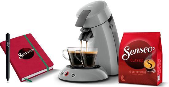 Philips Senseo Original HD6553/70 - Koffiepadapparaat - Zilvergrijs met Back2Study-pakket