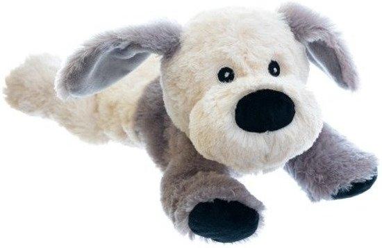 Magnetron warmte knuffel hond/puppy 18 cm - Verwijderbare zak - Warmte/koelte knuffelhond - Kruik knuffels voor kinderen/jongens/meisjes