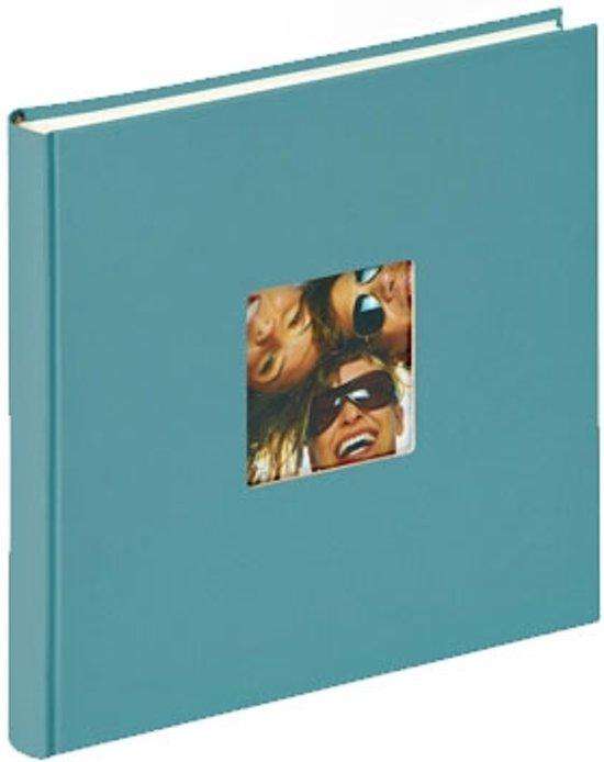 Walther Design FA205-K Fun - Fotoalbum - 25 x26 cm - Blauwgroen - 40 pagina's