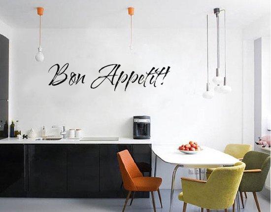 Bon appetit muursticker tekst muurtekst voor keuken eetkamer - Afbeelding van keuken amenagee ...