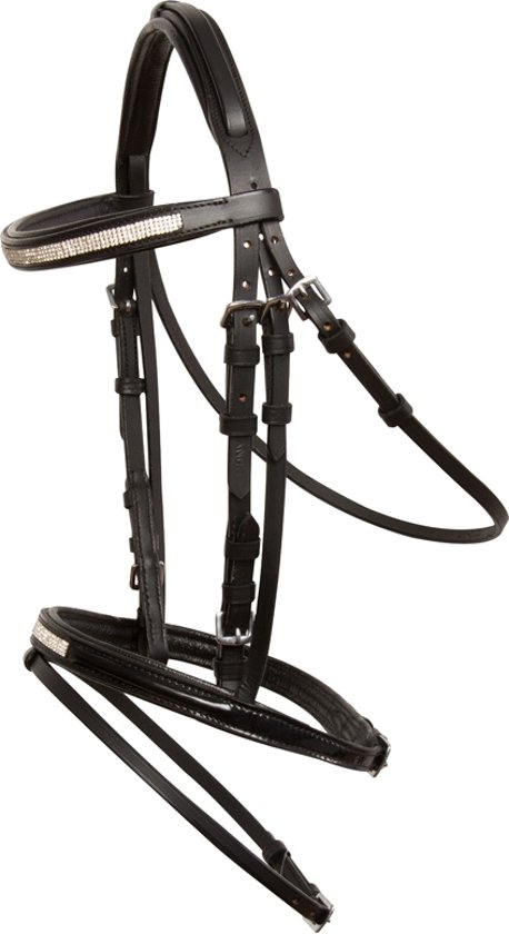 Imperial Riding Hoofdstel Fashion Crystal - Black - Pony