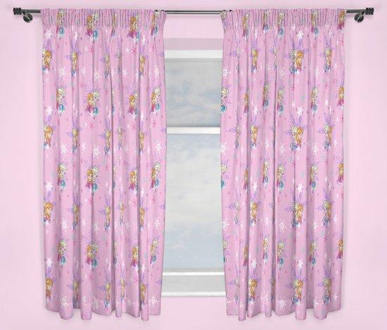 disney frozen gordijnen roze set 168x183cm 2 stuks
