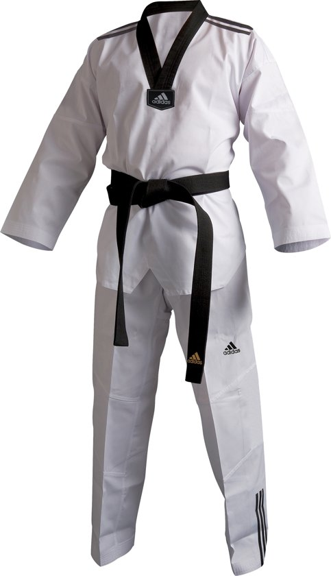 adidas Dobok ADI-Club 3/// Approved Zwart/Wit 200cm