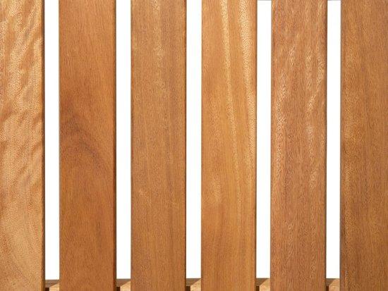 Beliani Java Tuinbank Licht houtkleur Hout 180 cm