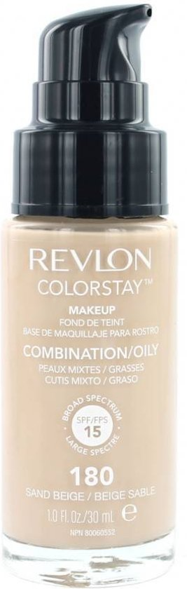 Revlon Colorstay Foundation With Pump Oily Skin - 180 Sand Beige