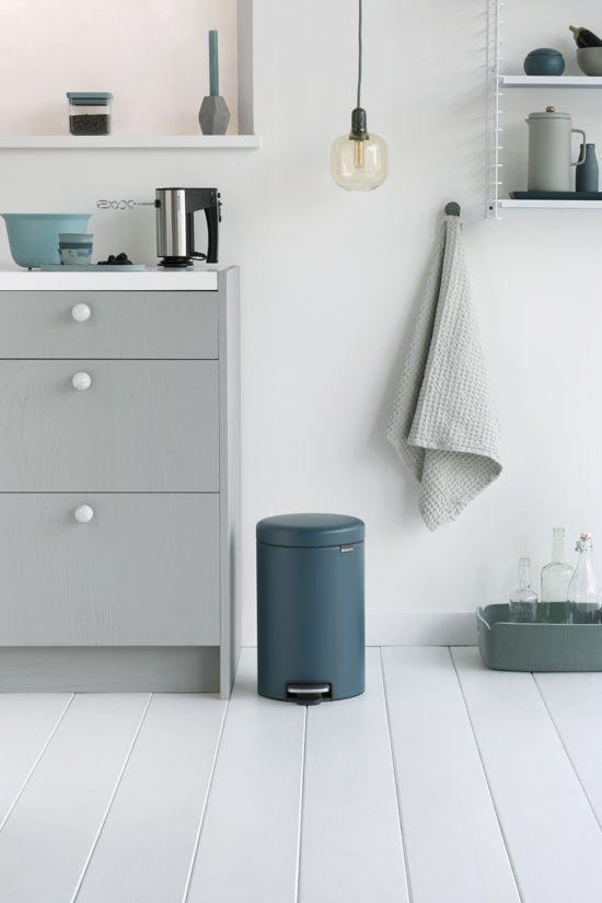 Brabantia NewIcon Pedaalemmer 12 L Mineral Reflective Blue