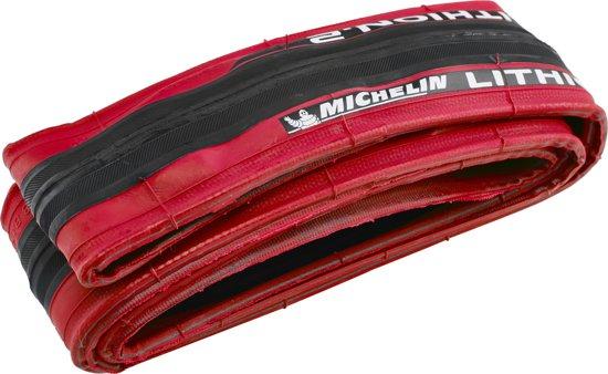 Michelin Lithion 2 V2 - Vouwband - Maat 23-622 - Zwart/Rood