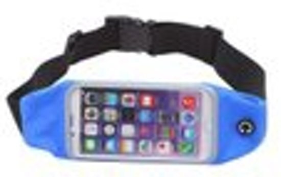 Sport heupband universeel voor Apple iPhone 6 Plus / 6S Plus / 7 Plus / 8 Plus - Blauw
