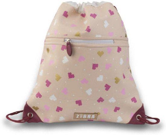 Zebra Trends Luxe Zwemtas met Rits - Hearts Pink