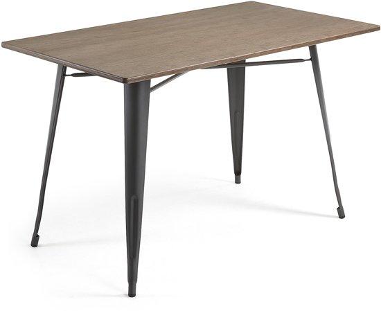 Bol laforma malibu tafel cm antraciet blad bamboe