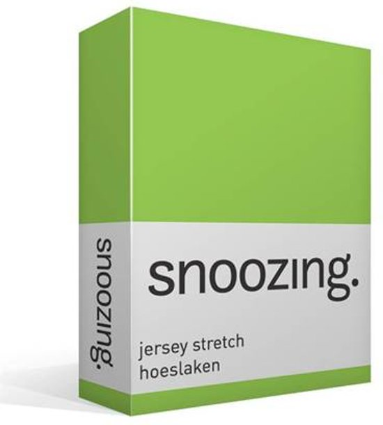 Snoozing Jersey Stretch - Hoeslaken - Tweepersoons - 120/130x200/220 cm - Lime