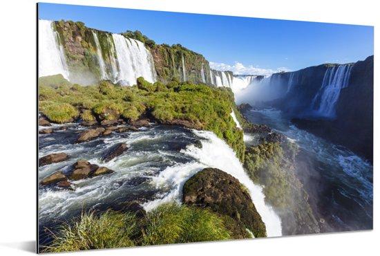 De waterval van Iguaçu in Brazilië Aluminium 180x120 cm - Foto print op Aluminium (metaal wanddecoratie) XXL / Groot formaat!