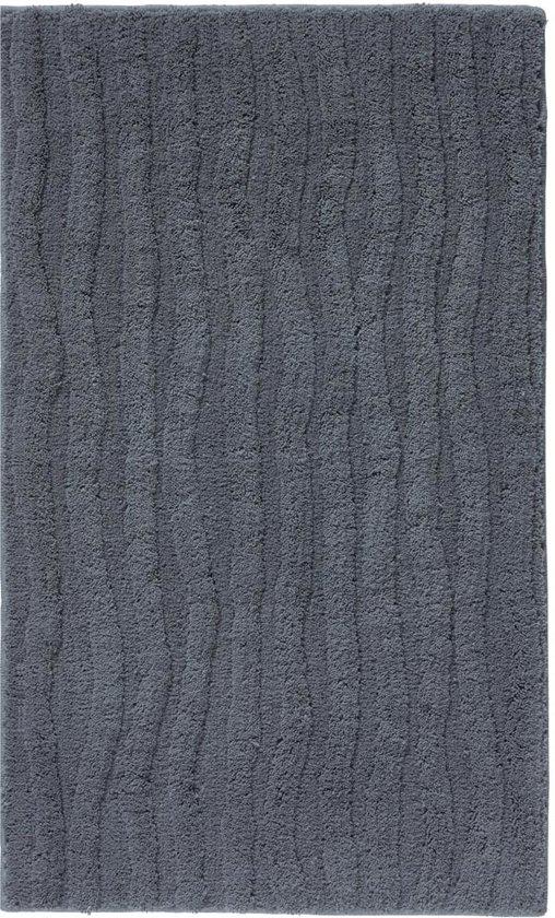 Aquanova Wave - Badmat - 60x100 cm - Donkergrijs