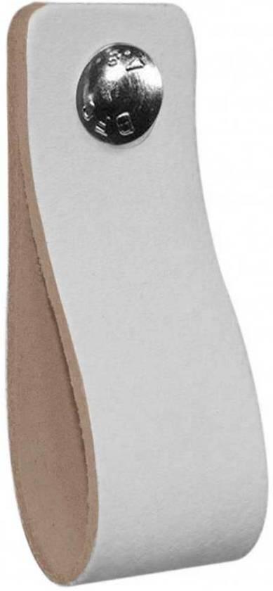 NiiNiiX Leren handgreep Wit gebroken wit/off-white - Maat M 3,0 x 17 cm;