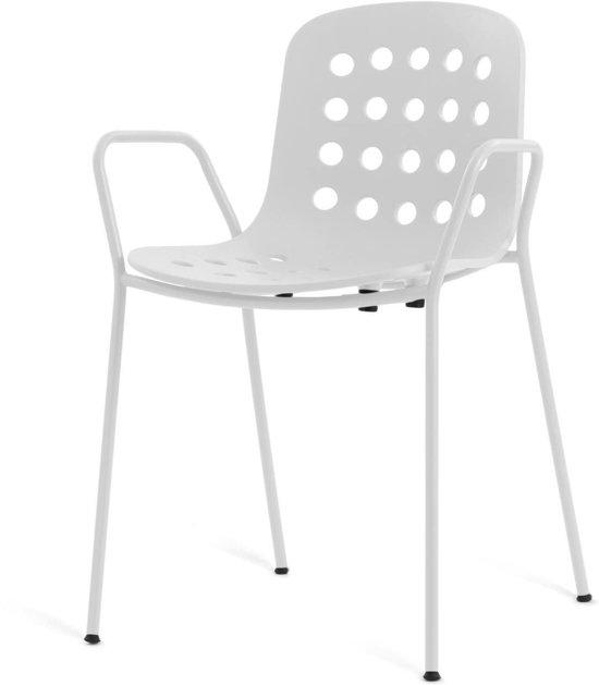 HOLI Holes stoel - Met armleuningen - Wit
