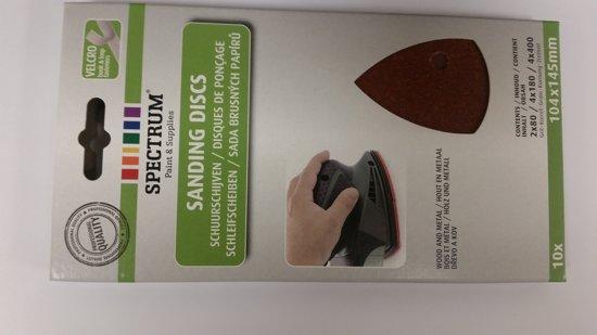 Schuurschijven / schuurpapier - 104 x 145 mm - 10 stuks