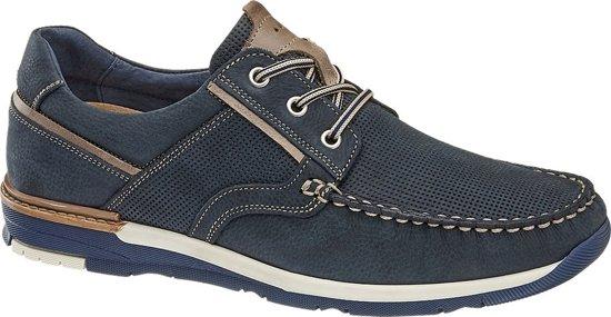 Leren Am 44 VeterschoenMaat Shoe Blauwe Heren pqUzVSM