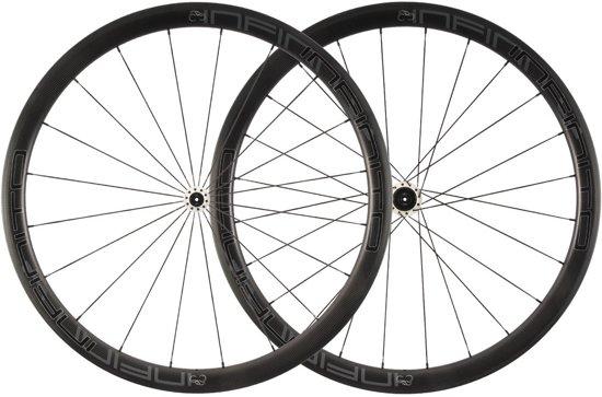 Infinito R4C wielset (Zwart mat / Witte naaf)