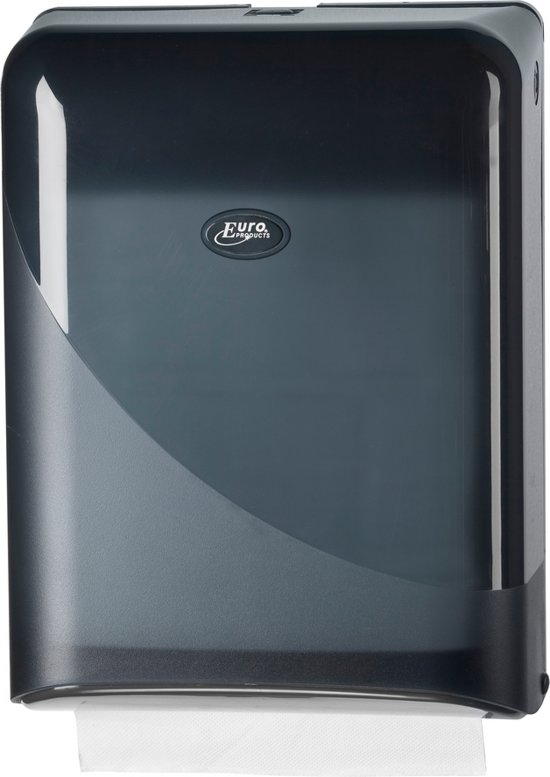Pearl Black Handdoekdispenser Interfold / Z-vouw Zwart