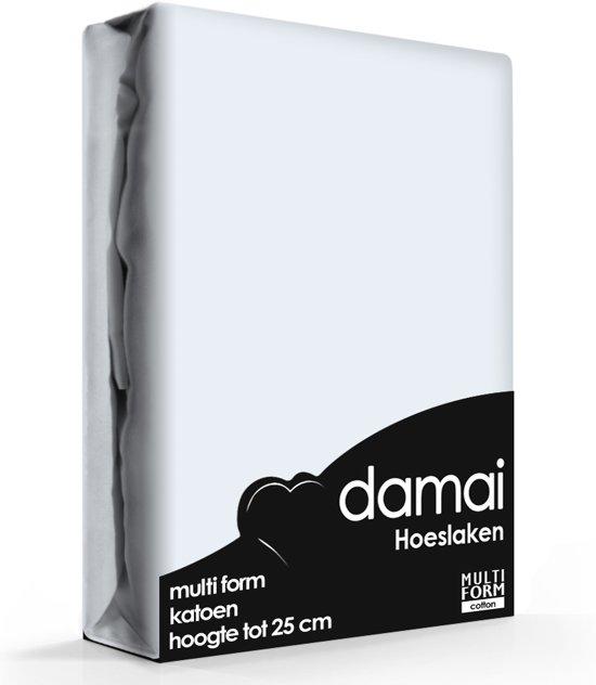 Damai - Hoeslaken (tot 25 cm) - Katoen - 160/180 x 200/210 cm - Sky blue