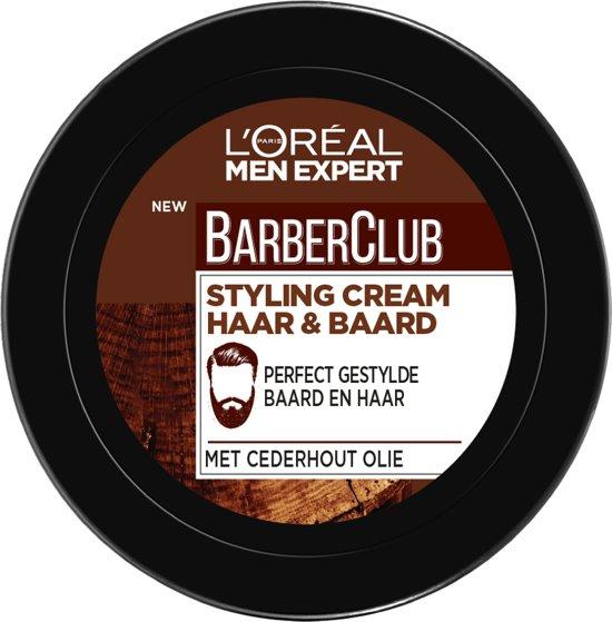 L'Oréal Men Expert BarberClub Haar en Baard Stylingcrème - 75ml