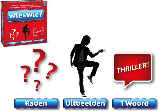 Wie is Wie - King Bordspel - Raadspel in Drie Rondes - Vanaf 12 Jaar