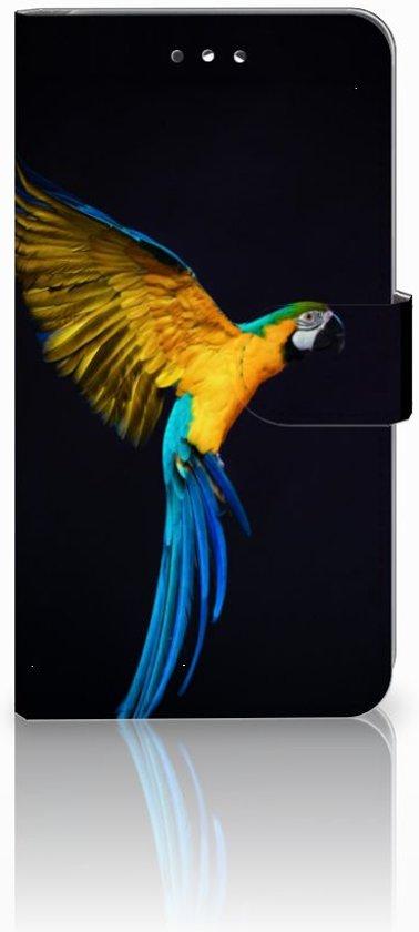Huawei Y7 2017 Uniek Design Hoesje Papegaai in Halmaal