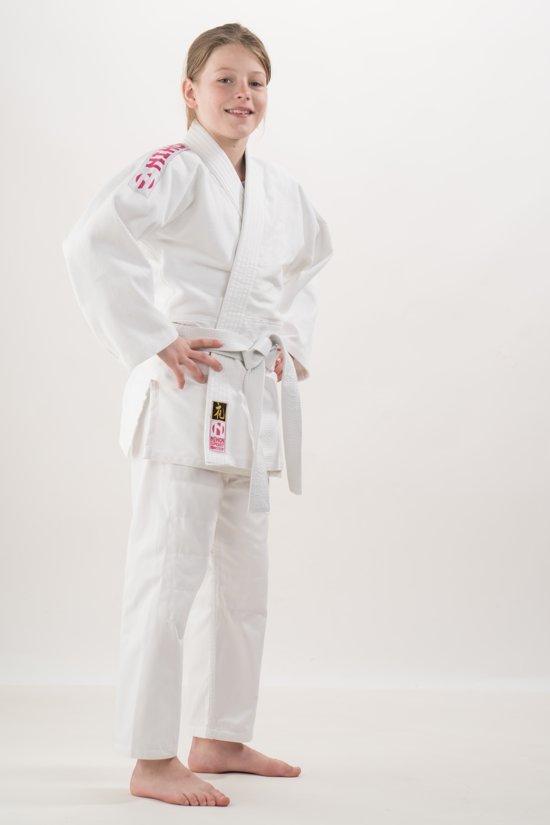 Nihon Judopak Rei Meisjes Wit/roze Maat 150