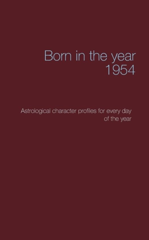 Born in the Year 1954