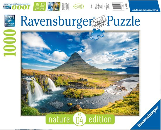 Ravensburger puzzel Waterval voor Kirkjufell, Ijsland - Legpuzzel - 1000 stukjes