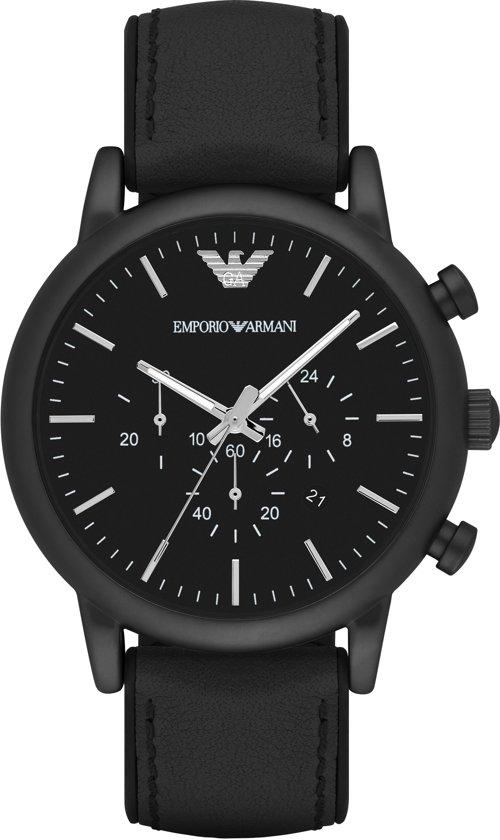 9f50505a949 bol.com | Emporio Armani Zwart Mannen Horloge AR1970