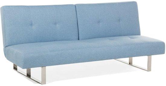Beliani Slaapbank blauw - bedbank - bank - sofa - klapbank - DUBLIN
