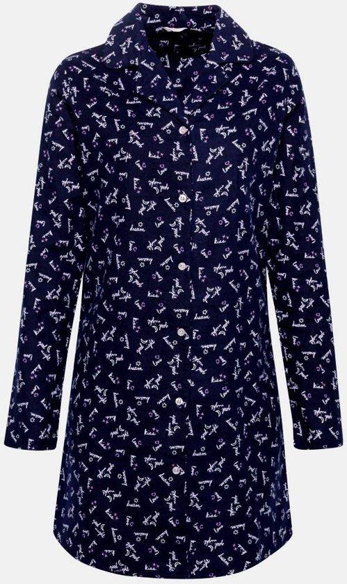 f3a262a1603 Blauwe flanellen nachthemd Esprit