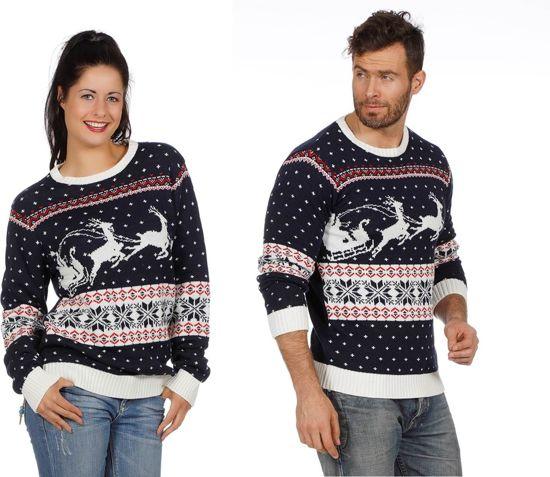 Kersttrui Maat M.Bol Com Kersttrui Blauw Met Slee Voor Volwassenen Maat M