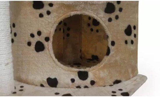 Krabpaal Lucky 70 cm (beige) met pootafdrukken