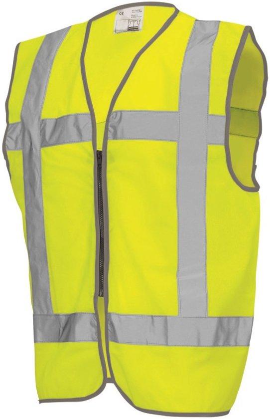 Tricorp Veiligheidsvest RWS met rits - Workwear - 453009 - Fluor Geel - maat XXL