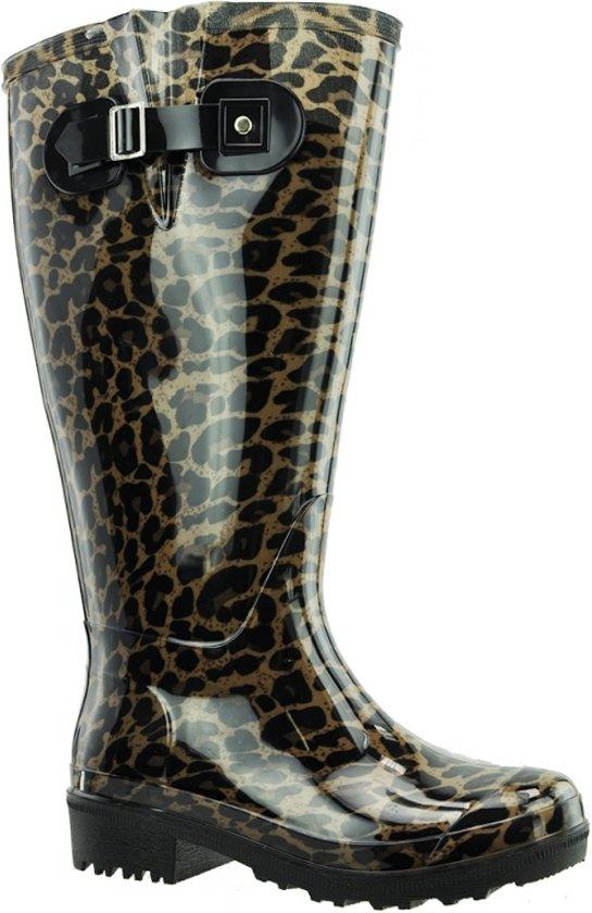 Xxl Cm Kuitomvang Wide 40 Wellies Beige Regenlaars Maat Leopard Bruin 50 34Acjq5RL