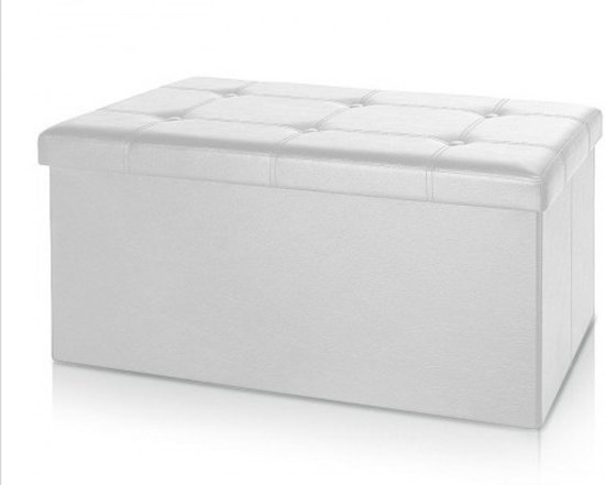 Monzana Zitbank - 80cm - met - opbergruimte - in - Wit