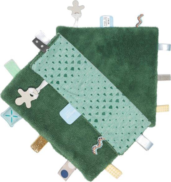Snoozebaby - knuffeldoekje Comfort Toy Sweet - Forest Green - 25x25cm
