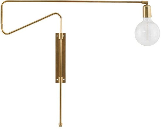 House Doctor - Wall lamp, Swing, Brass plated, l: 70