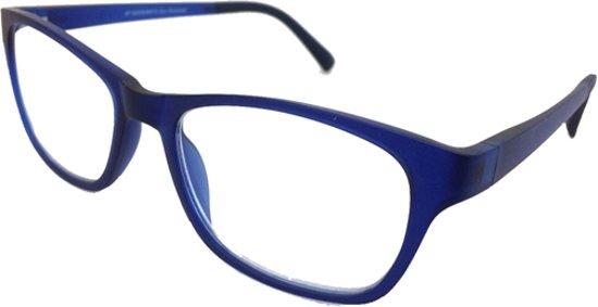 Fangle Biobased leesbril mat blauw +1.5