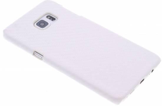 Look Carbone Blanc Couverture Étui Rigide Pour Bord De Samsung Galaxy S 24mFF