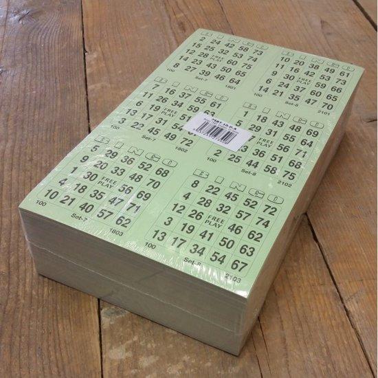 Bingokaarten 1 t/m 75 | 10 Game | Dubbel