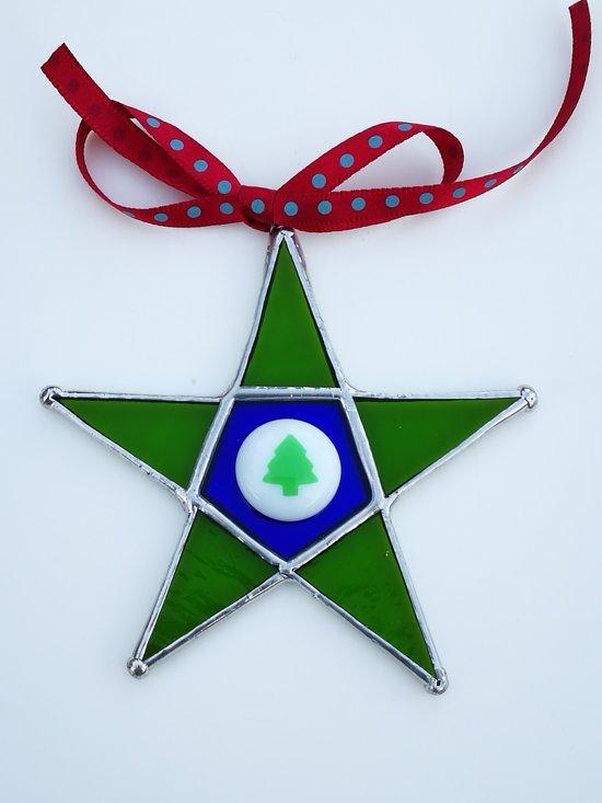 Groene Kerst ster