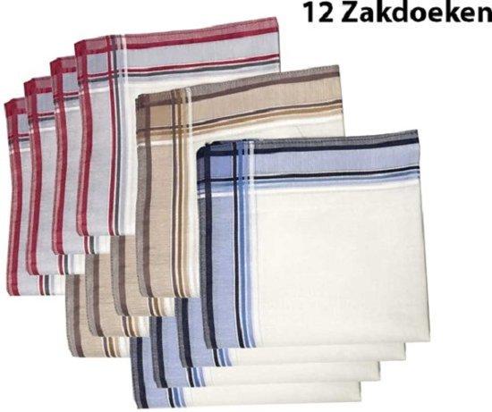 Zakdoeken - Heren - 12 zakdoeken - Sorprese - cadeauset - heren zakdoeken - zakdoek - 10