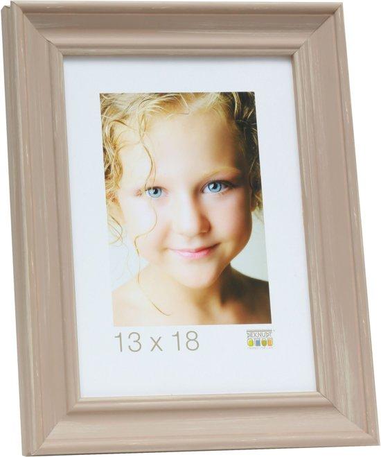 Deknudt Frames S46LF3  20x28cm Fotokader beige geschilderd in landelijke stijl