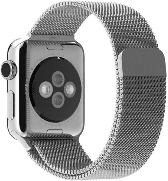 Milanees Apple Watch Bandje 42mm Zilver - Milanese Loop Band Silver