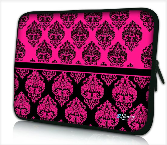 90ea65206e3 Laptophoes 13,3 inch roze patroon chique - Sleevy - Laptop sleeve - Macbook  hoes