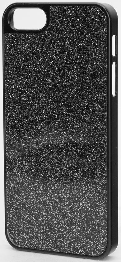 XQISIT iPlate Glamor - Apple iPhone 5/5s en SE Hoesje - Zwart in Wemmel